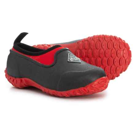 Muck Boot Company Muckster II Low Shoes - Waterproof, Insulated (For Boys) in Black/Red - Closeouts