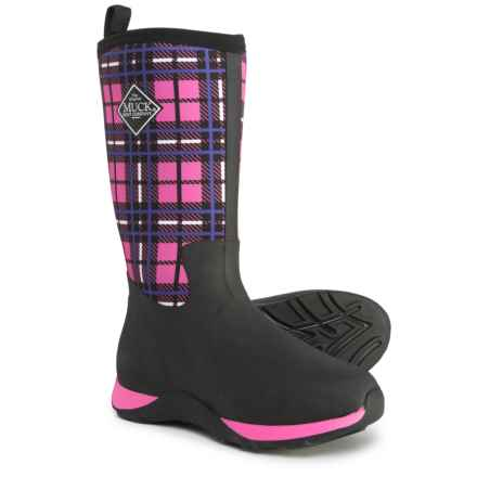 Muck Boot Company Rover II Plaid Rain Boots - Waterproof (For Girls) in Pink - Closeouts