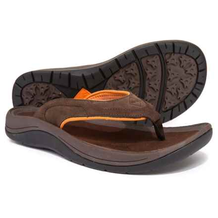 Muck Boot Company Wanderer Flip-Flops - Suede (For Men) in Brown/Orange - Closeouts