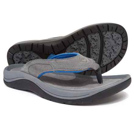 Muck Boot Company Wanderer Flip-Flops - Suede (For Men) in Gray/Blue - Closeouts