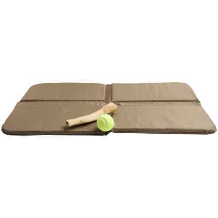 "Mud River Four-Way Folding Dog Bed - 36x21"" in Brown - Closeouts"