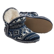 Muk Luks Amira Slippers (For Women) in Geometric Knit - Closeouts