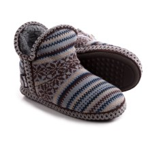 Muk Luks Amira Slippers (For Women) in Snowflake Stitch - Closeouts