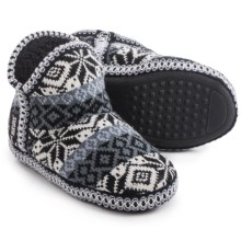 Muk Luks Amira Slippers (For Women) in Stripe Snow - Closeouts