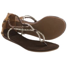 Muk Luks Ana Sandals (For Women) in Mixed Metal - Closeouts