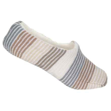 Muk Luks Ballerina Slipper Socks - Fleece Lined (For Women) in Ivory - Closeouts
