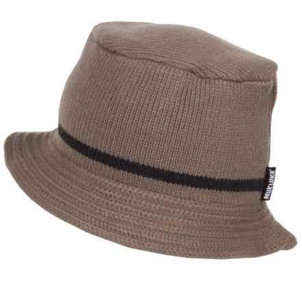 Muk Luks Bucket Hat in Tan/Grey - Closeouts
