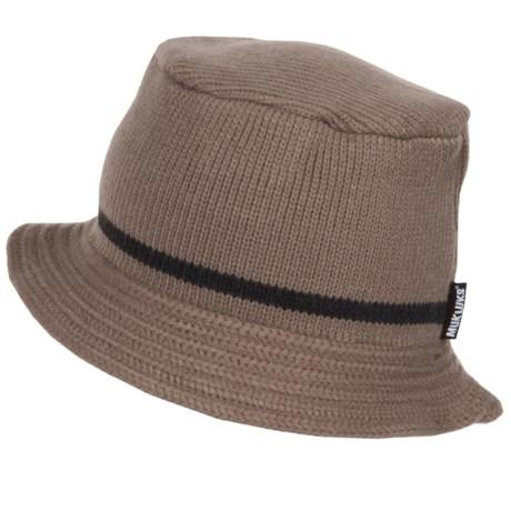 Muk Luks Bucket Hat in Tan/Grey