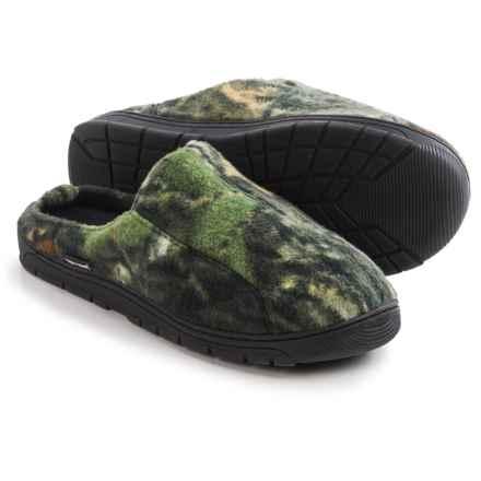 Muk Luks Camouflage Slippers - Fleece, Open Back (For Men) in Mossy Oak Breakup - Closeouts