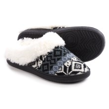 Muk Luks Clog Slippers - Faux-Fur Lining (For Women) in Folkstripe Snow - Closeouts