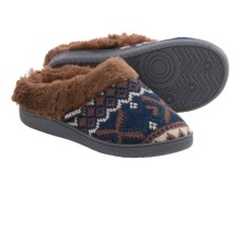 Muk Luks Clog Slippers - Faux-Fur Lining (For Women) in Twilight/Camel - Closeouts