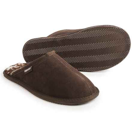 Muk Luks Dave Scuffs - Suede (For Men) in Chocolate - Closeouts