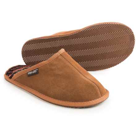 Muk Luks Dave Scuffs - Suede (For Men) in Tan - Closeouts