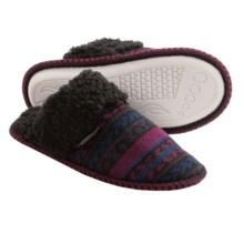 Muk Luks Fair Isle Knit Slippers (For Women) in Box Fairisle Midnight - Closeouts