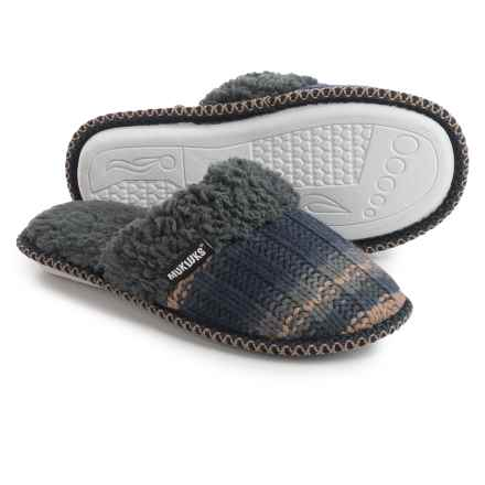 Muk Luks Fair Isle Knit Slippers (For Women) in Navy - Closeouts