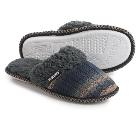 Muk Luks Fair Isle Knit Slippers (For Women)