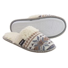 Muk Luks Fair Isle Knit Slippers (For Women) in Winter White - Closeouts