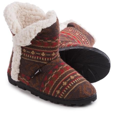 Muk Luks Faux-Fur Trim Boot Slippers (For Women)