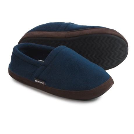 Muk Luks Fleece Slippers (For Men) in Navy