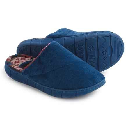 Muk Luks Gretta Slippers (For Women) in Liberty Blue - Closeouts