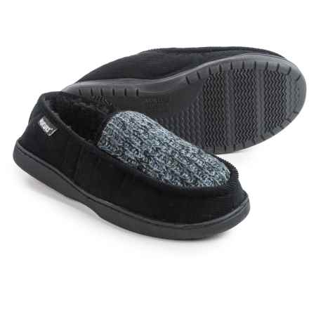 Muk Luks Henry Slippers (For Men) in Black Marl - Closeouts