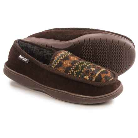 Muk Luks Henry Slippers (For Men) in Brown - Closeouts