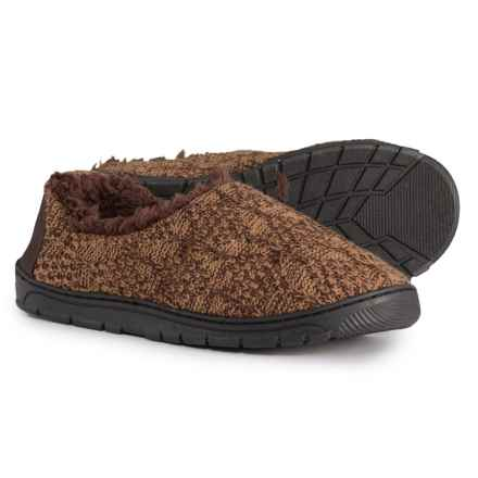 Muk Luks John Slippers (For Men) in Chocolate Chip - Closeouts