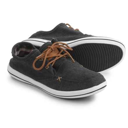 Muk Luks Josh Boat Shoes - Linen (For Men) in Black - Closeouts