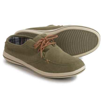Muk Luks Josh Boat Shoes - Linen (For Men) in Khaki Green - Closeouts