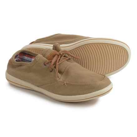 Muk Luks Josh Boat Shoes - Linen (For Men) in Khaki - Closeouts