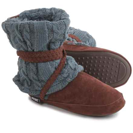 Muk Luks Judie Bootie Slippers - Faux-Fur Lined (For Women) in Pewter - Closeouts