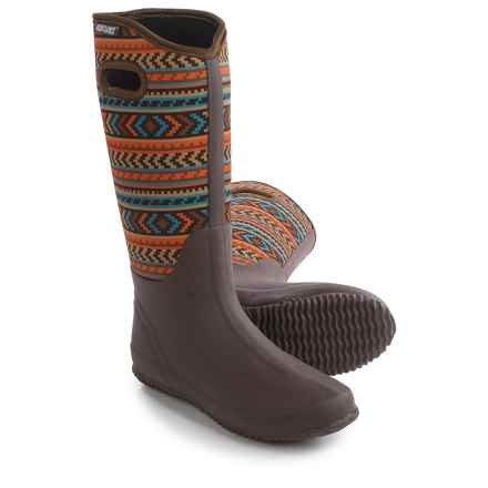 Muk Luks Karen Tall Rain Boots - Waterproof (For Women) in Orange/Turquoise/Orange - Closeouts