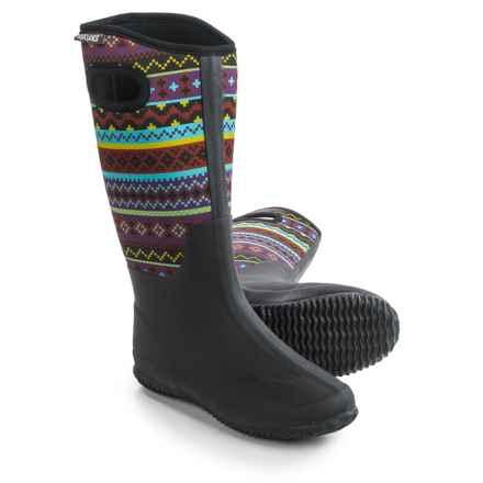 Muk Luks Karen Tall Rain Boots - Waterproof (For Women) in Purple/Pink/Green - Closeouts