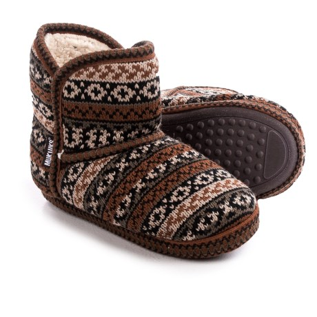 muk luks knit slipper boots for save 72
