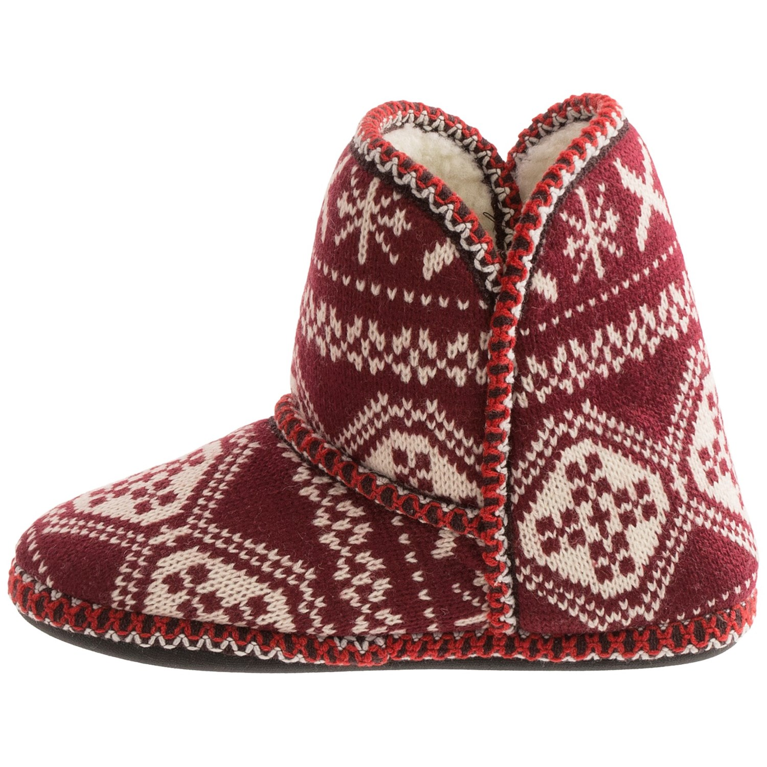 muk luks knit slipper boots for save 88