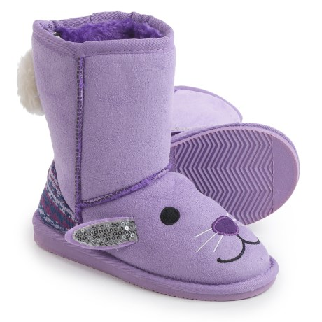 Muk Luks Lily Bunny Boots - Fleece Lined (For Little Kids) in Light Purple