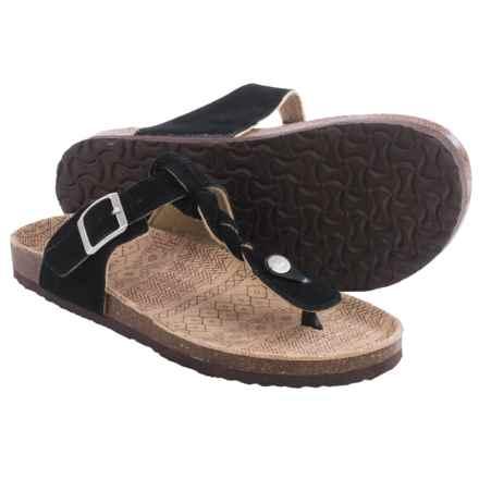 Muk Luks Marie Terra Turf Sandals (For Women) in Black - Closeouts