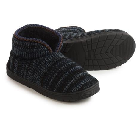 Muk Luks Mark Slippers (For Men) in Black
