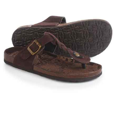 Muk Luks Marsha Sandals - Suede (For Women) in Chocolate - Closeouts