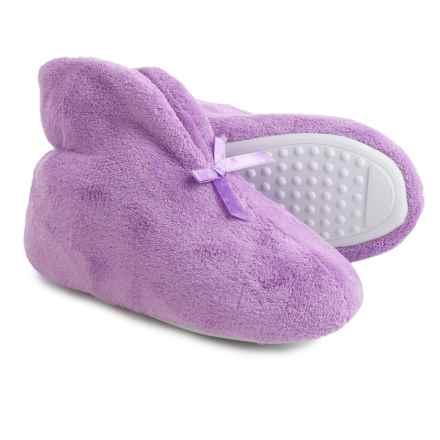 Muk Luks Microchenille Fleece Slippers (For Women) in Purple - Closeouts