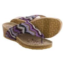 Muk Luks Olivia Terra Turf Sandals - Wedge Heel (For Women) in Purple - Closeouts