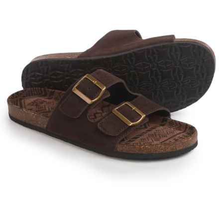 Muk Luks Parker Sandals - Slip-Ons (For Men) in Dark Brown - Closeouts