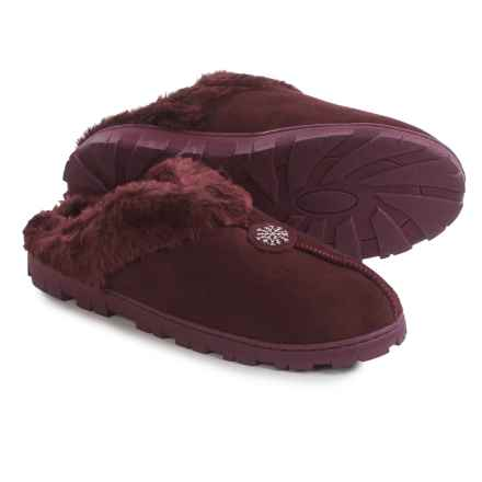 Muk Luks Slipper Clogs - Faux-Fur Lined (For Women) in Burgundy - Closeouts