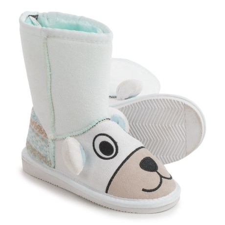 Muk Luks Snowball Polar Bear Boots (For Little Kids) in White
