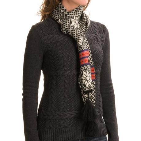 Muk Luks Snowflake Tassel Scarf (For Women) in Black