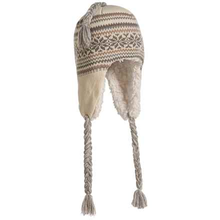 Muk Luks Snowflake Zigzag Trapper Hat - Fleece Lined (For Women) in Grey - Closeouts