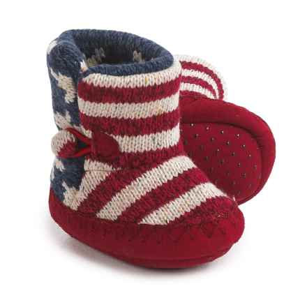 Muk Luks Stars-and-Stripes Booties - Fleece Lined (For Infants) in Red/White/Blue - Closeouts