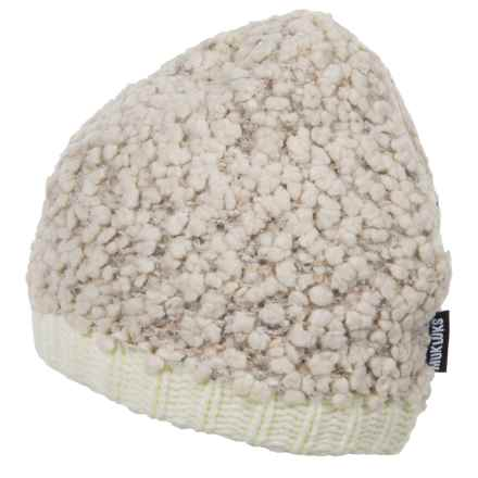 Muk Luks Textured Fleece Beanie (For Women) in Vanilla - Closeouts