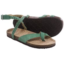 Muk Luks Zara Sandals - Suede (For Women) in Emerald Green - Closeouts