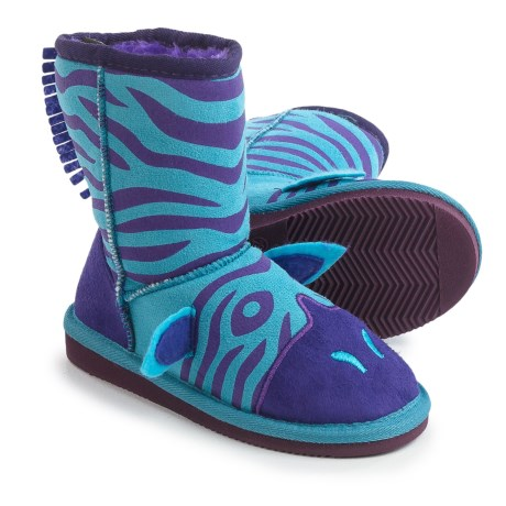 Muk Luks Zeb Zebra Boots (For Little Kids) in Blue